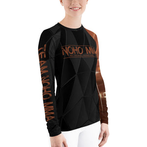 Women's NoHo MMA Brown Belt Rash Guard