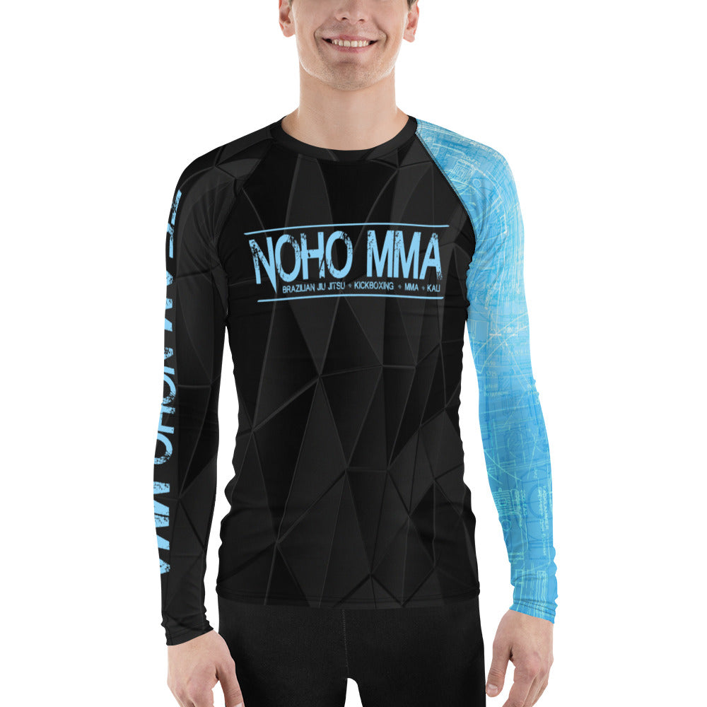 Men's NoHo MMA Blue Belt Rash Guard