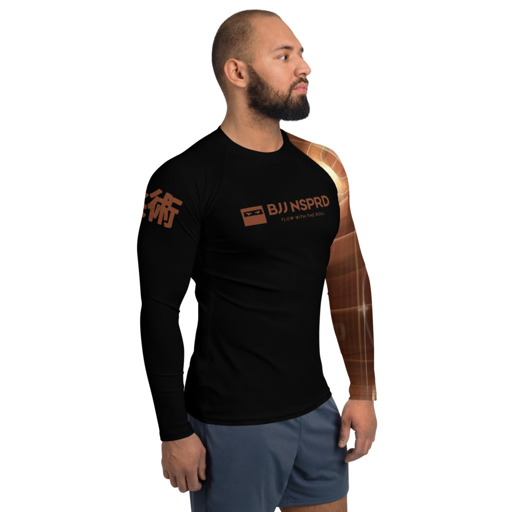 Brown Belt BJJ NSPRD Men's Rash Guard
