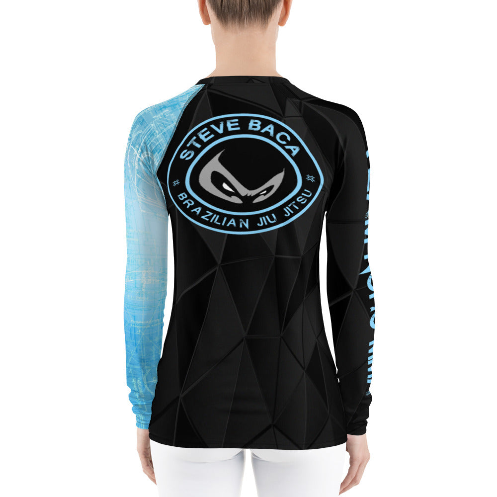 Women's NoHo MMA Blue Belt Rash Guard