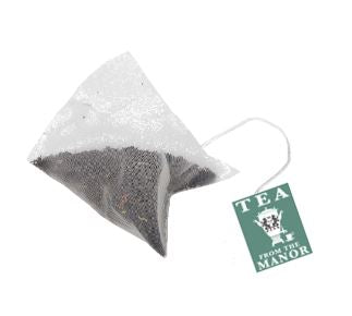 Decaf English Breakfast Pyramid Teabag with Tea From the Manor logo