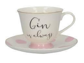 Ava and I - Gin & Tonic Cup and Saucer