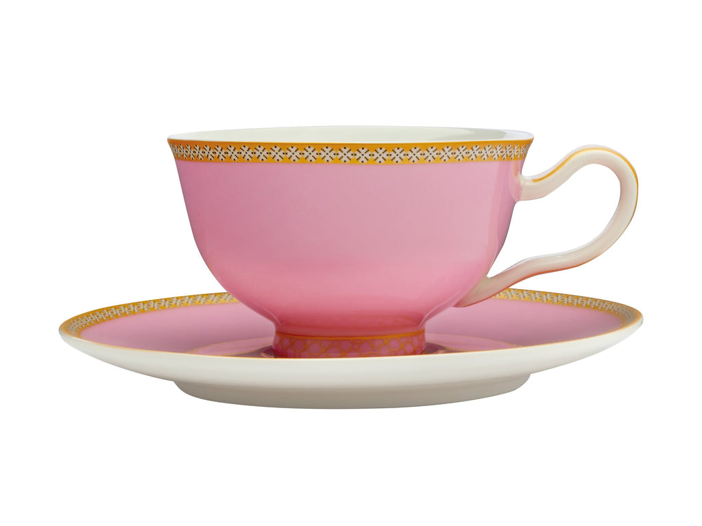 Maxwell & Williams Teas & C's Kasbah Hot Pink Footed Cup and Saucer