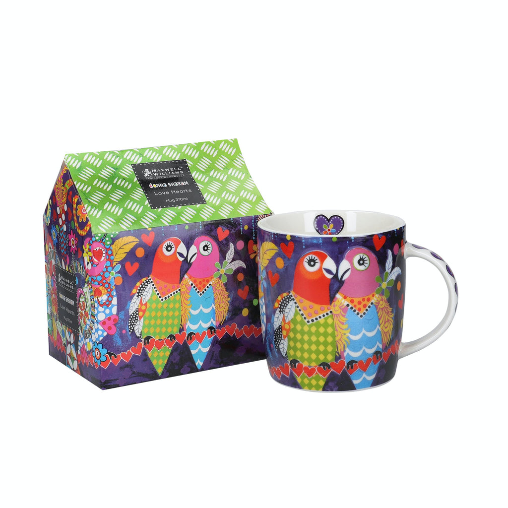 Maxwell & Williams Love Hearts 370ml Love Birds Mug with gift box