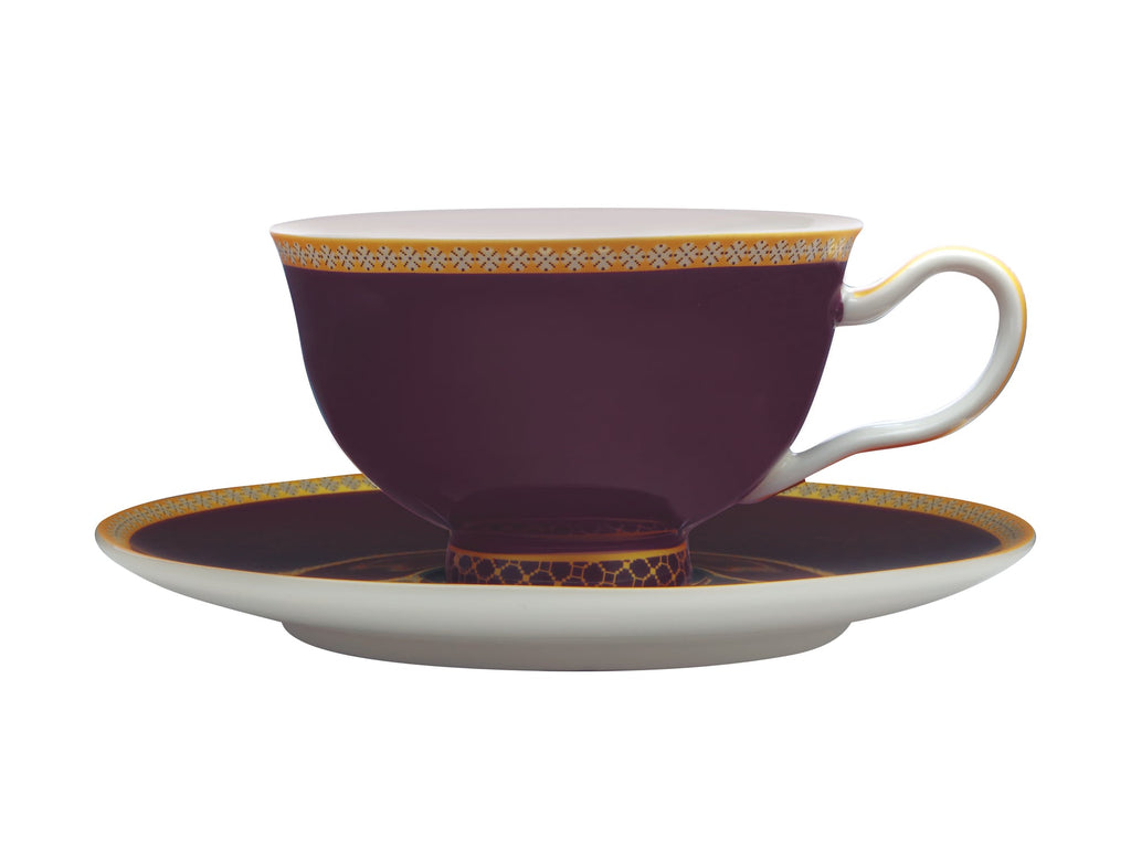 Maxwell & Williams Teas & C's Kasbah Violet 200ml Footed Cup and Saucer