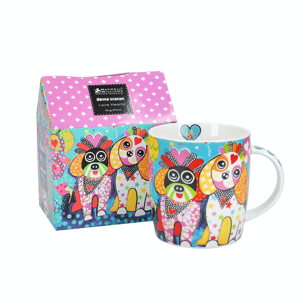 Maxwell & Williams Love Hearts 370ml Oodles of Love Mug and gift box