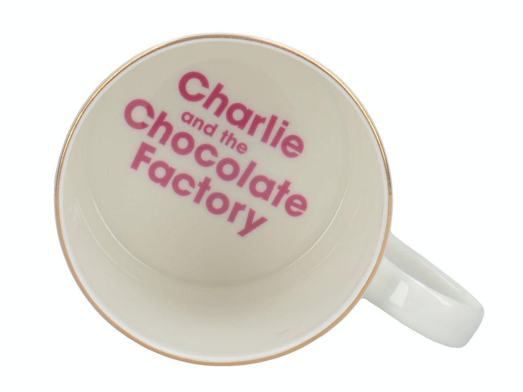 Roald Dahl Charlie And The Chocolate Factory Fine Bone China Can Mug With Gold Inside detail