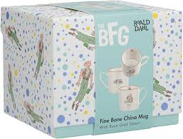 Roald Dahl BFG Fine Bone China Can Mug With Rose Gold Details Gift Box