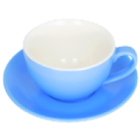 Blue Bevande Tea Cup and Saucer