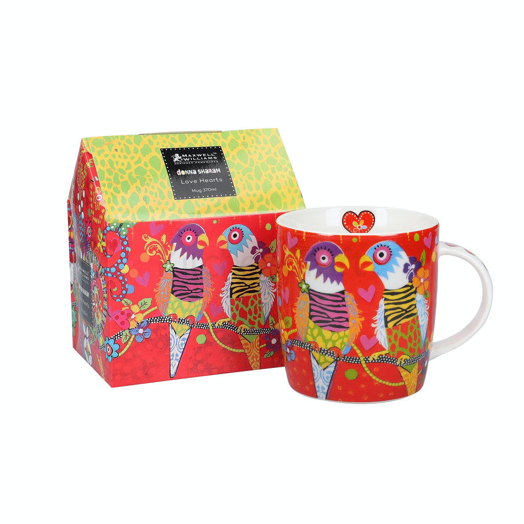Maxwell & Williams Love Hearts 370ml Tiger Tiger Mug and gift box