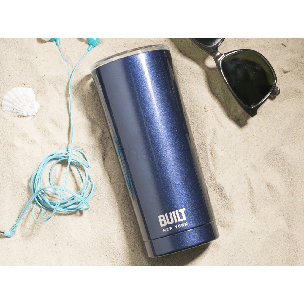 Built 590ml Double Walled Stainless Steel Travel Mug Midnight Blue