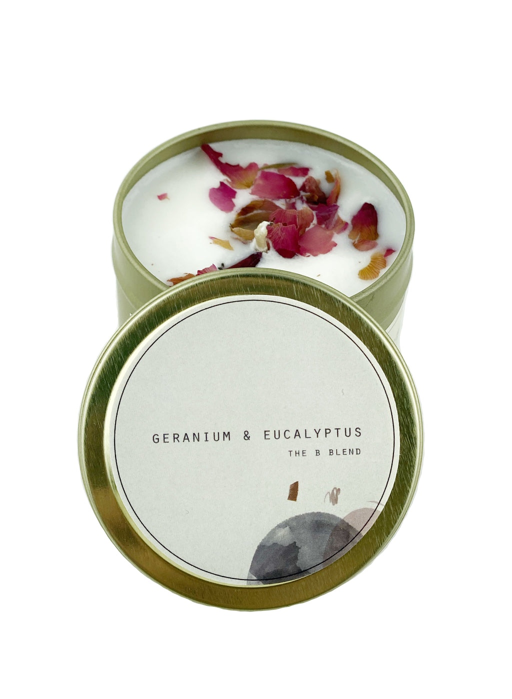 Travel Tin Candle- Geranium & Eucalyptus