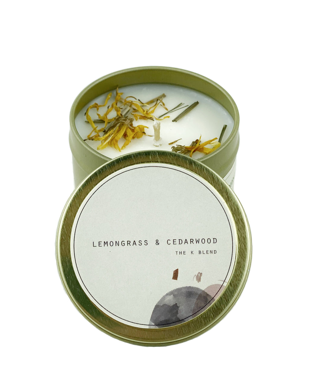 Travel Tin Candle- Lemongrass & Cedarwood