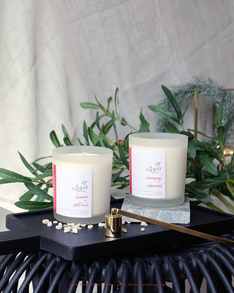 SALE! Candle- Lemongrass & Cedarwood 14oz (U.P $54)