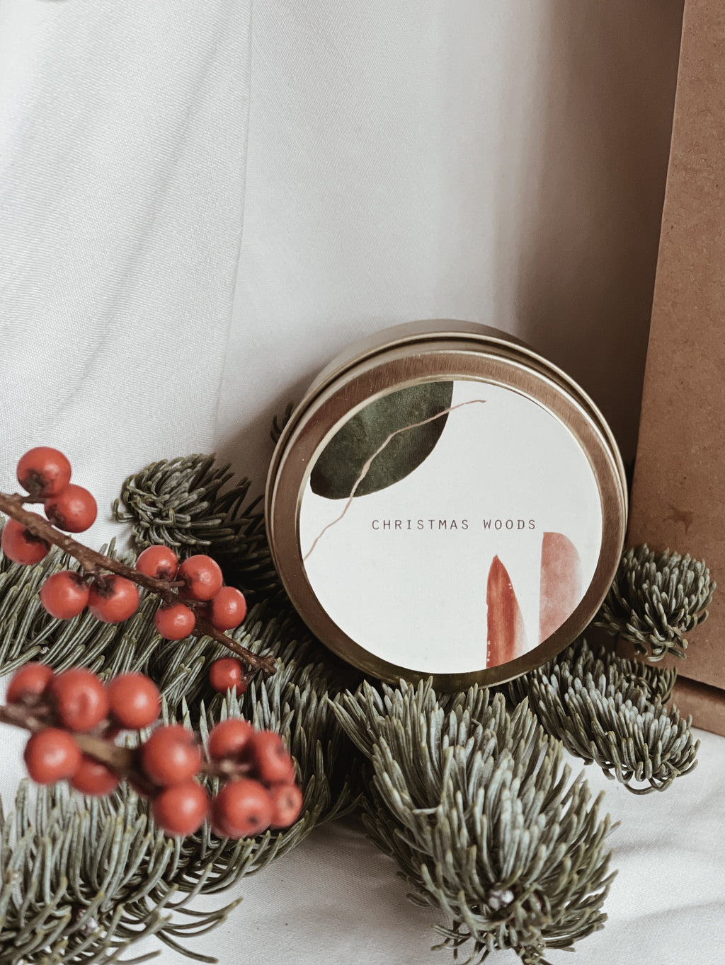 Travel Tin Candle- Christmas Woods