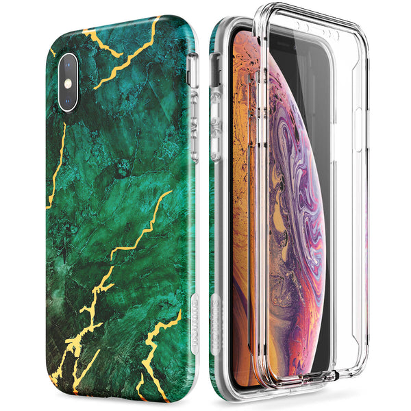 iPhone X / iPhone XS 360 Full-Body Protection Shockproof Green Case