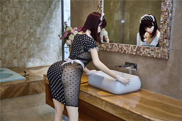 Irontechdoll 170cm Aurora Eyes Closed Face Curvy Body Real Sex Doll