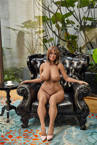 158cm Lisa Realistic Black woman sex doll for men