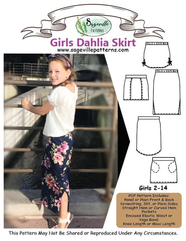 Girls Dahlia Skirt