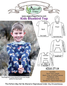 Kids Bluebird Top