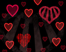 Load image into Gallery viewer, Stripey Hearts
