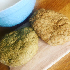 Seitan dough resting before cooking.