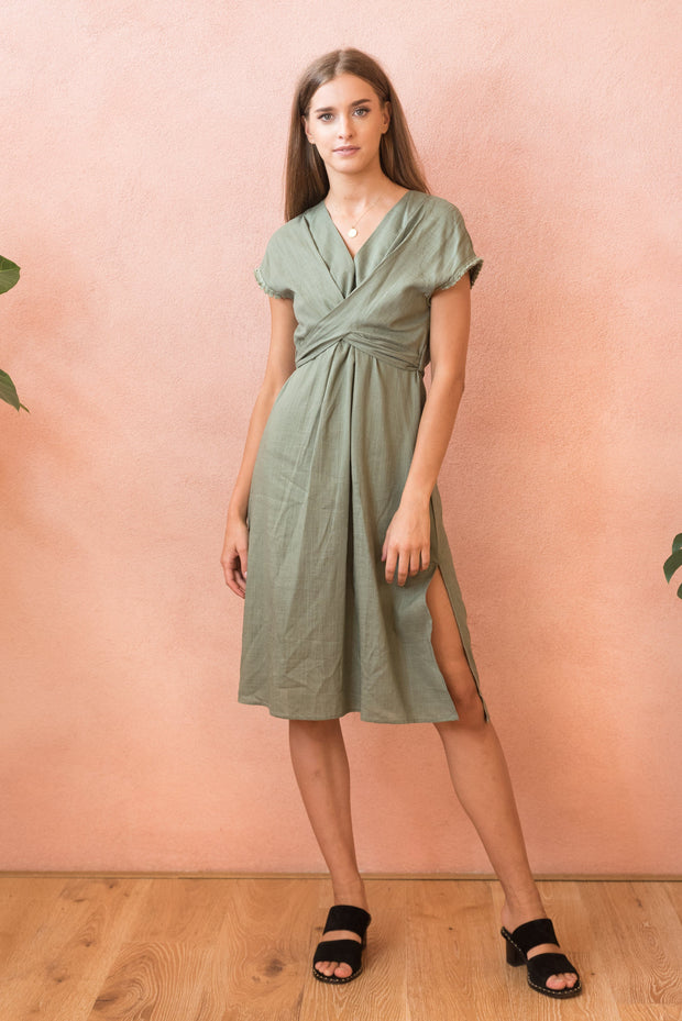 Hazel Linen Dress FRDM Clothing