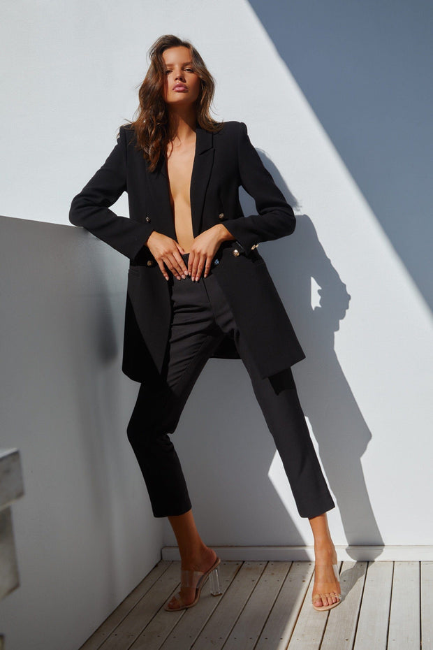 Gemma Black Blazer FRDM Clothing