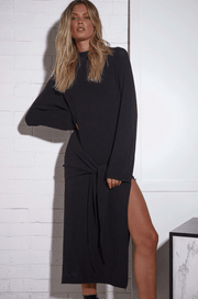 Lucy Black Knit Dress FRDM Clothing
