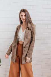 Tilly Brown Blazer FRDM Clothing