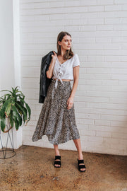 Long Cheetah Skirt FRDM Clothing