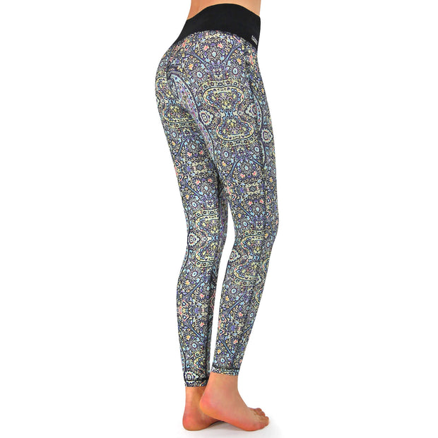 Fitness Tights Damen lang, mit Tasche, Po