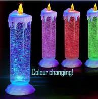 Indoor & Outdoor Swirling Led Glittering Candle with USB