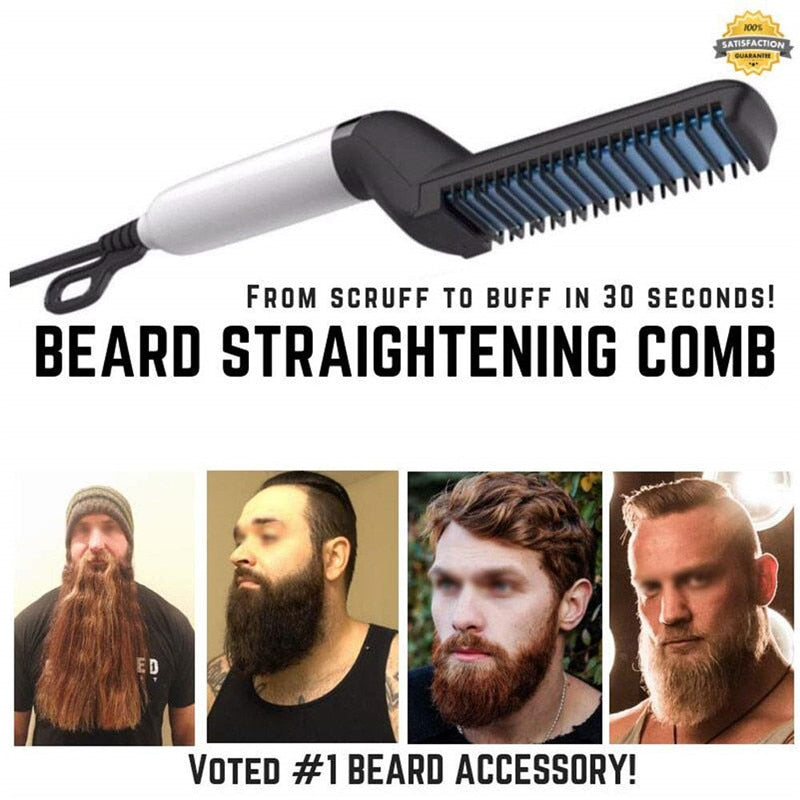 Men Beard Styler Straightener Comb - Happy Panda