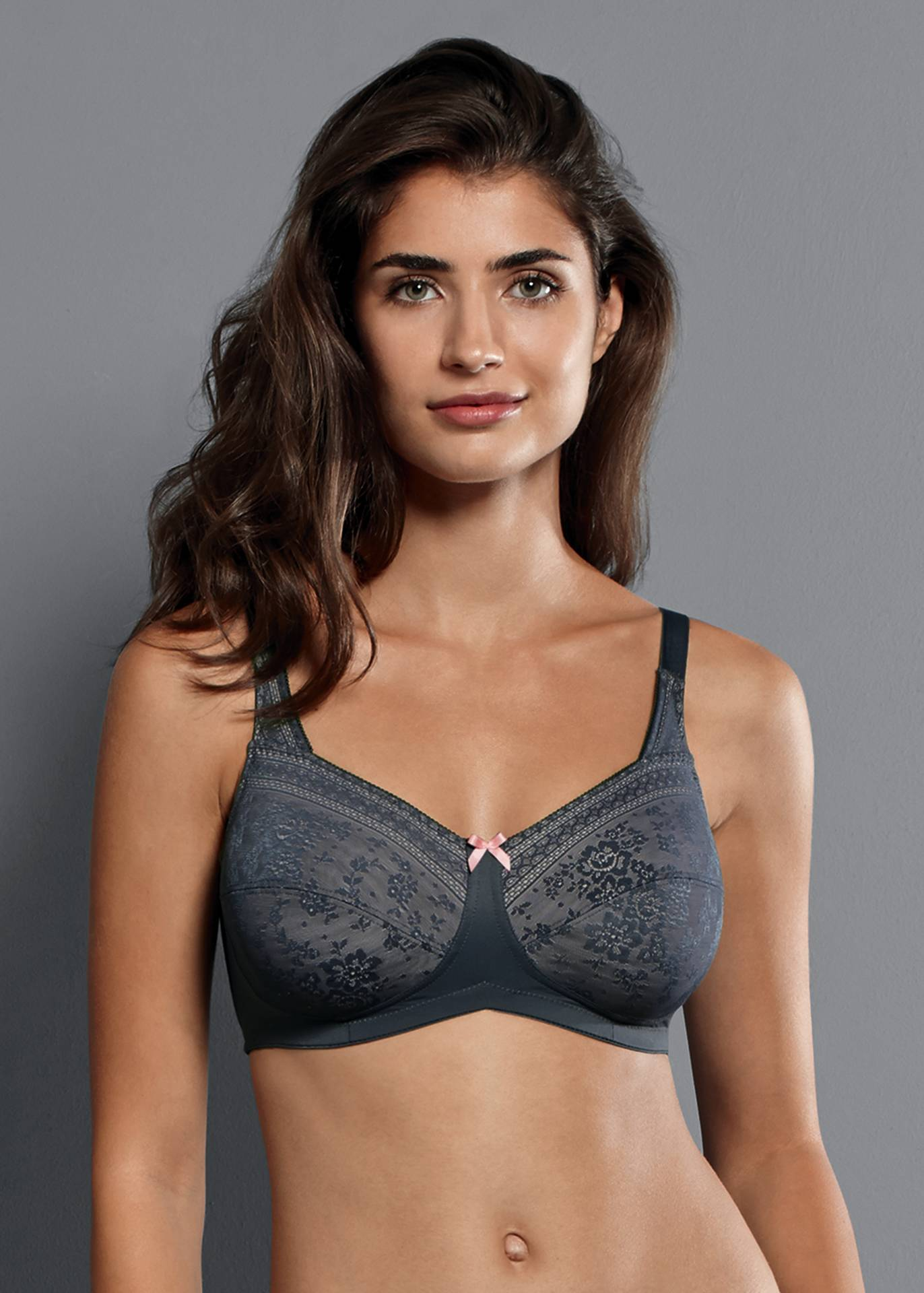 Anita Care Fleur Wire Free Mastectomy Bra - Anthracite 5754X (2-3 weeks for delivery)