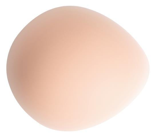 Amoena Partial Breast Form 227 Balance Natura Thin Oval