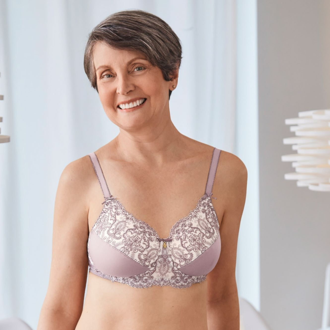 Amoena Estelle Non-wired Bra - Mauve / light rose - 44635