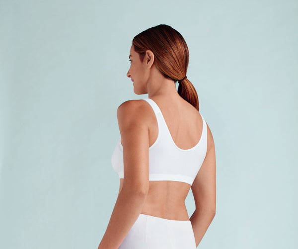 Amoena Hannah Wire free Front Closure Mastectomy Bra - White 2160