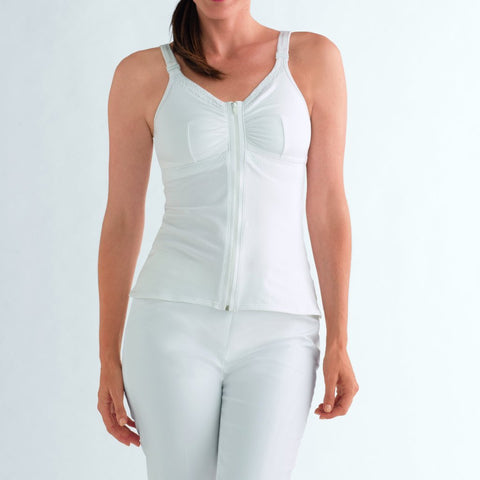 Amoena Hannah Breast Surgery Recovery Camisole - White 2860