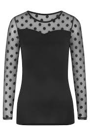 Amoena Heart Neckline Long Sleeve Pocketed Shirt - Black 44587