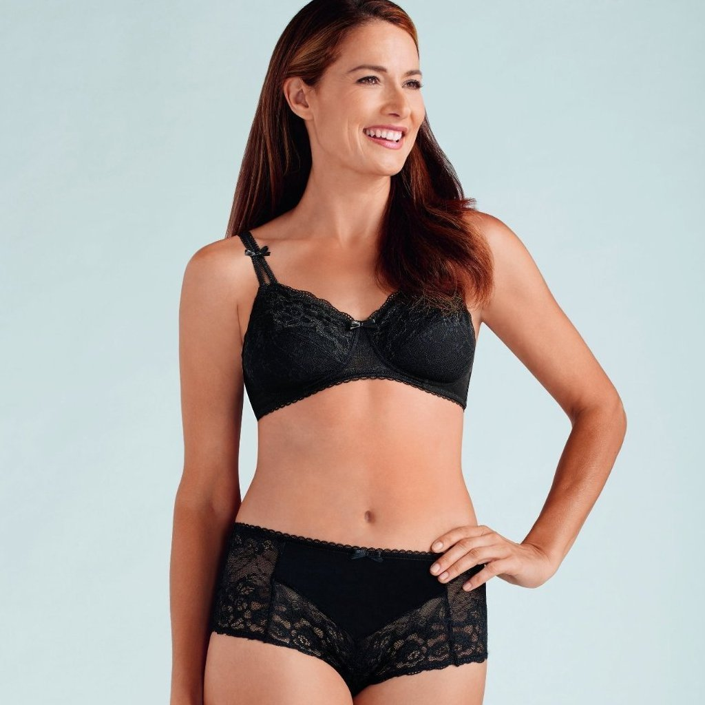 Amoena Karla Soft Mastectomy Bra - Black 43981