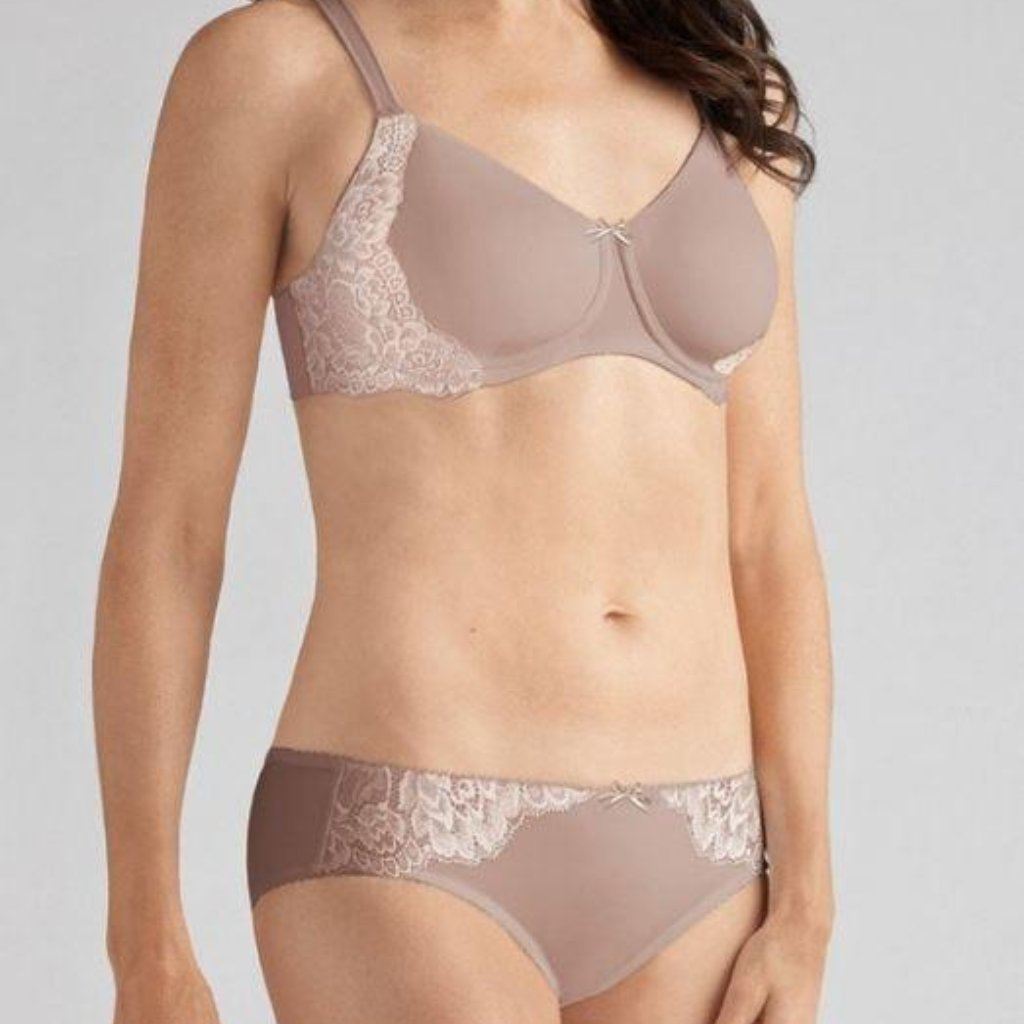 Amoena Lilly Padded Mastectomy Bra - Cafe Latte 1289
