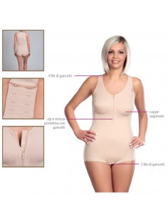 Lipoelastic MH Special Comfort Post Surgical Compression Garment - Natural