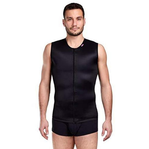 Lipoelastic MTmL Comfort Male Post Surgical Compression Vest - Black