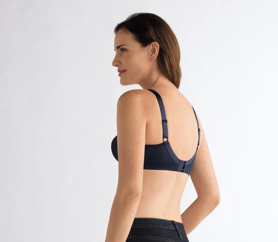 Amoena Nancy Wirefree Mastectomy Bra - Dark Blue 44417