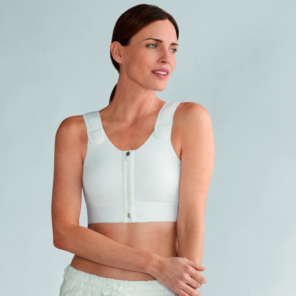 Amoena Patricia Light Compression Vest - White 2863B