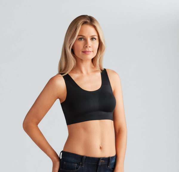 Amoena Amy Mastectomy Soft Seamless Bra - Black 44311