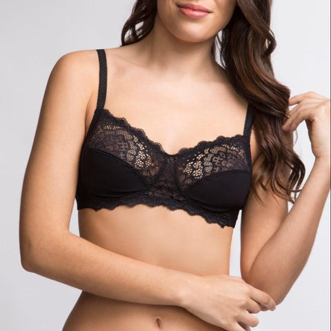 Simone Perele Caresse Soft Cup Bra (non pocketed) - Black