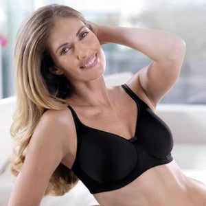 Anita Care Tonya Wire Free Moulded Cup Mastectomy Bra - Black 5706X