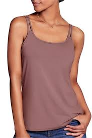 Amoena Valletta Pocketed Singlet/Cami - Rose Taupe 44584